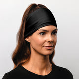 "Black Headband (4.5"" Skull Wrap)"