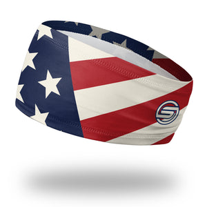 "USA Patriot - American Flag Headband (4.5"" Skull Wrap)"