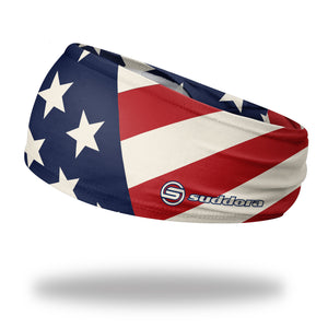 "USA Patriot American Flag Headband (3.5"" Tapered)"