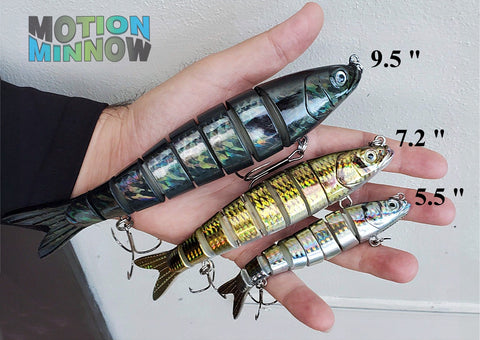 Motion Minnow Swimbait Fishing Lures Sizes