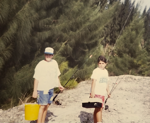 The brothers just hanging on a typical afternoon chasing snook & tarpon | Circa 1988
