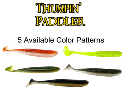 "3.5"" Soft Plastic Thumpin' Paddler Swim Bait Lures - Marea Gear"