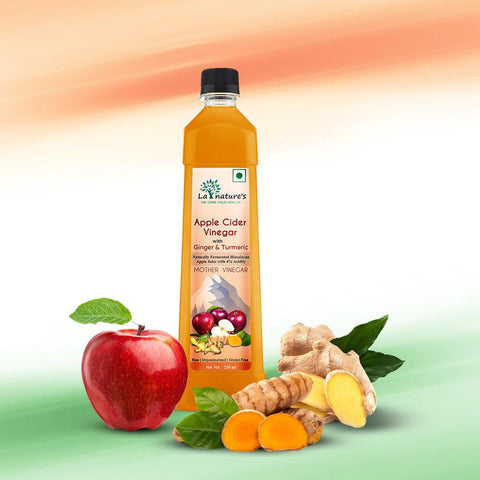 Apple Cider with Mother Vinegar with Ginger & Turmeric - 250ML - La Nature's