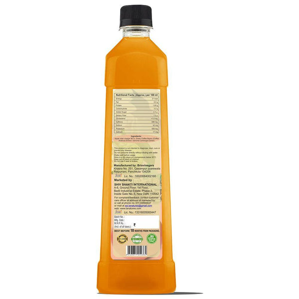 Apple Cider Vinegar With Garcinia Cambogia & Green Coffee Bean Extract back label