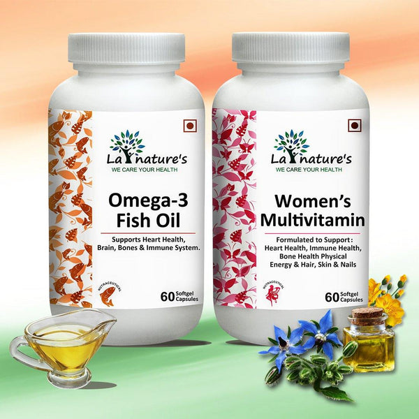 Omega 3 and Women's Multivitamin Capsules