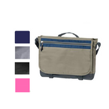 Dual Tone Textured Polyester Messenger Bag, Briefcase Messenger Bags