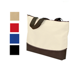 Poly Zip Polyester Tote Bag, Tote Bags