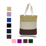Heavy Canvas Tri-Color Promotional Tote Bag, Tote Bags