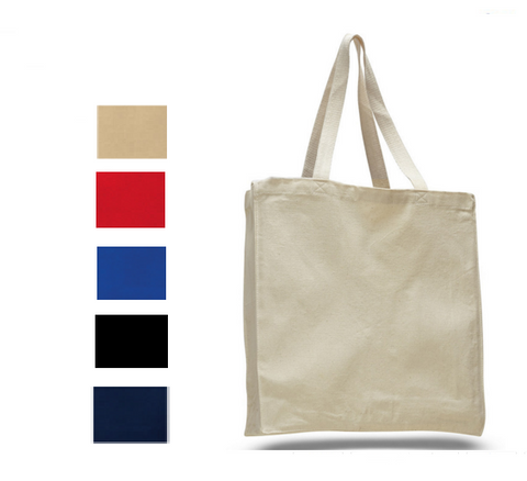 Heavy Canvas Shopper Tote Bag with Gussets, Tote Bags