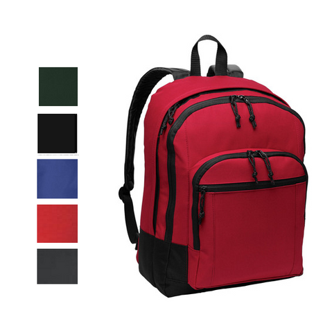 Classic Polyester Backpack with Front Zippered Pocket, backpack
