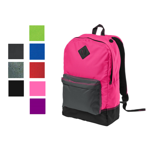 Retro Backpack with Neon Colors, backpack