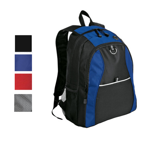 Budget-Friendly Contrast Honeycomb Backpack, backpack
