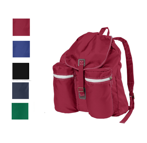 Stylish Rucksack Backpack with Exterior Pockets, backpack