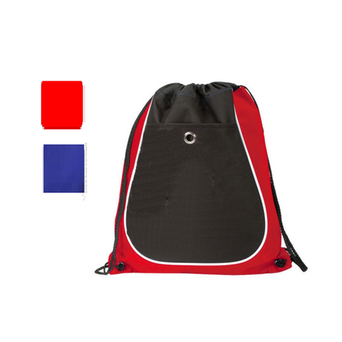 Dual Color Sporty Drawstring Bag, Cinch Pack