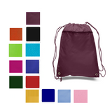 Zippered Polyester Drawstring Bag, Cinch Pack