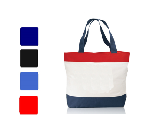 Deluxe Poly Zipper Beach Tote Bag, Tote Bags