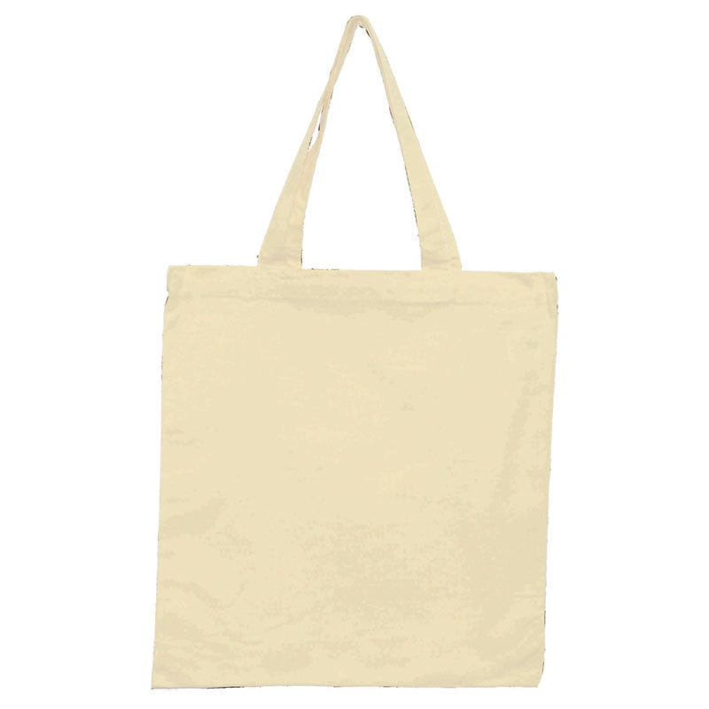 Heavy Canvas Book Tote Bag with Gussets, Tote Bags