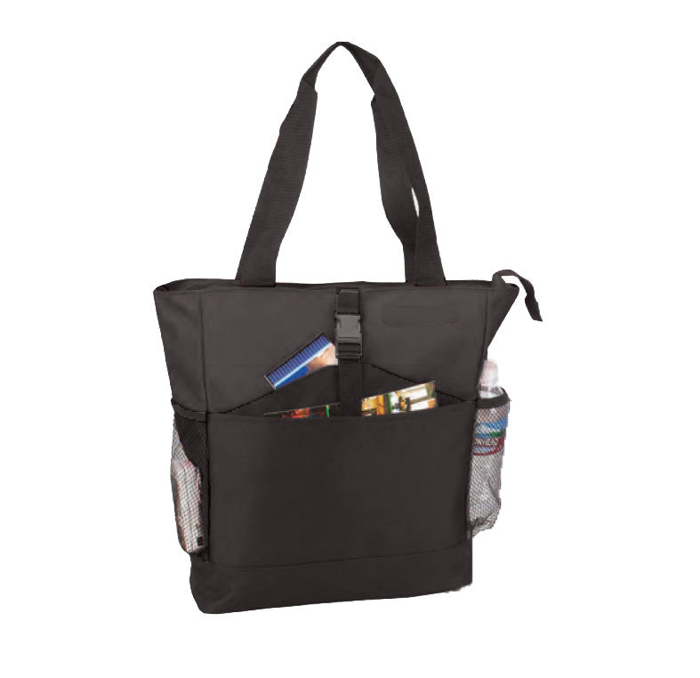 Multi Pocket Zippered Polyester Tote Bag, Tote Bags