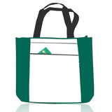 Polyester Tote Bag with Zipper Top, Tote Bags