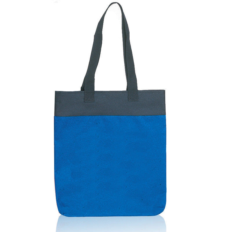 Dual Tone Polyester Tote Bag with Long Handles, Tote Bags