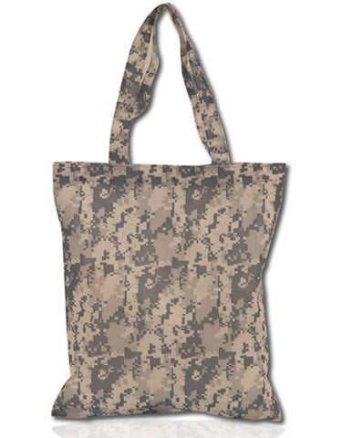 Plain Digital Camo None-Woven Tote Bag, Tote Bags