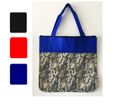 Digital Camo Non Woven Two Tone Tote Bag, Tote Bags