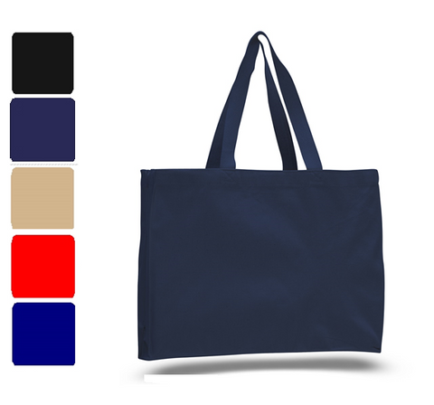 Sturdy Large Canvas Tote Bags Wholesale W/ Full Gusset, Tote Bags