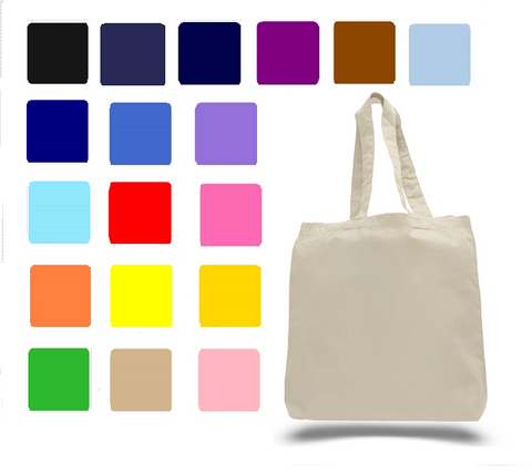 Economical Cotton Tote Bag with Fabric Handles, Tote Bags