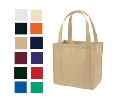 PL Bottom None-Woven Grocery Tote Bag, Tote Bags