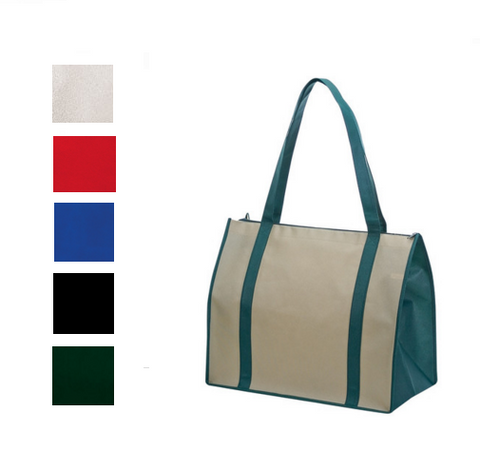 PP with Zipper None-Woven Tote Bag, Tote Bags