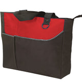 Zippered Large Polyester Tote Bag, Tote Bags