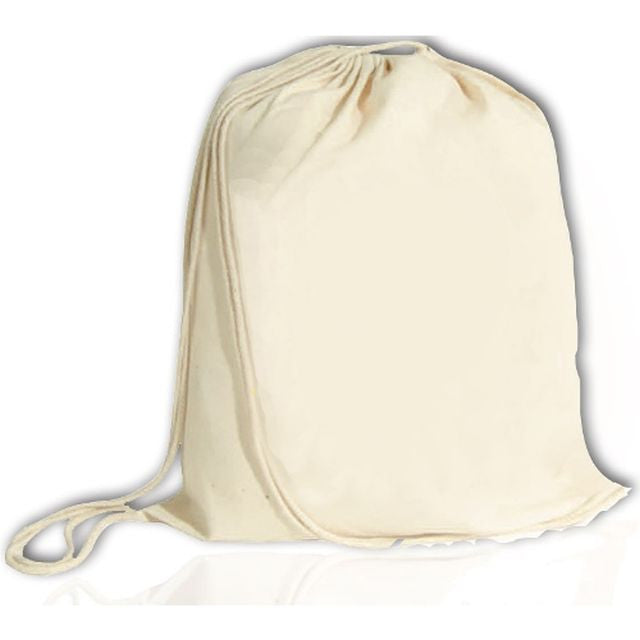 Cotton Drawstring Blank Bag Large, Cinch Pack