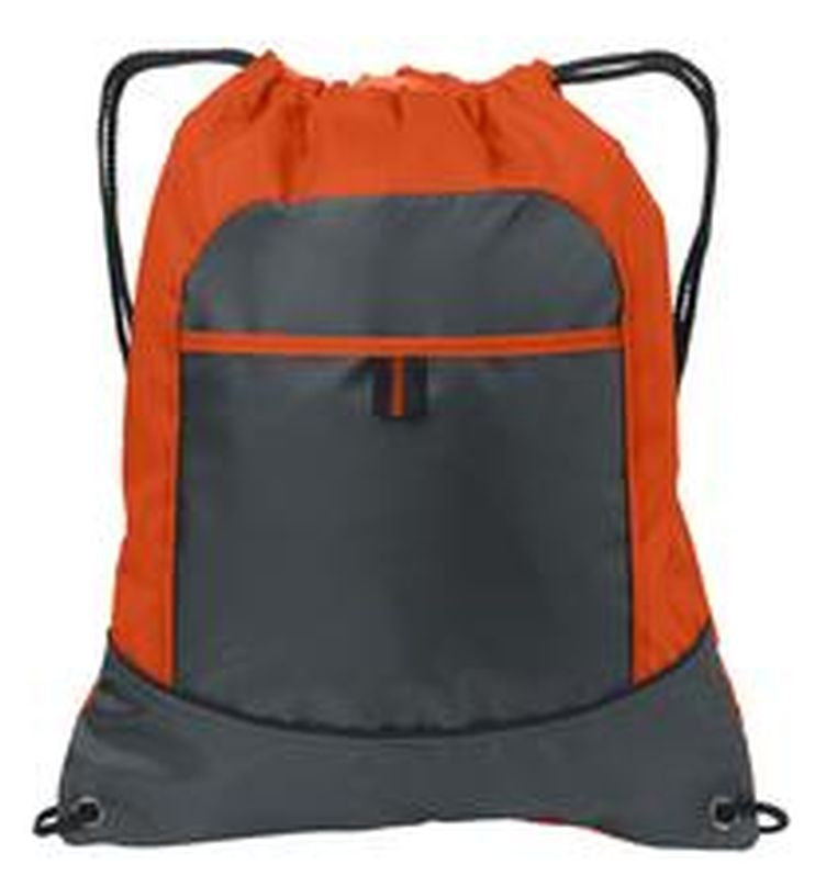 Wholesale Promotional Drawstring Backpack with two colors, Cinch Pack