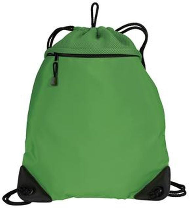 Large Drawstring Bag with Mesh Trim, Cinch Pack