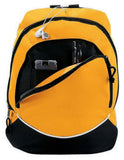 Large Polyester Tri-Color Backpack, backpack