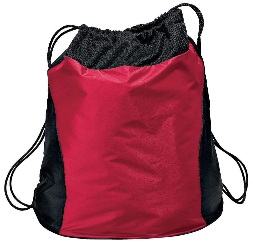 Dual Color Wide Bottom Drawstring Bag / Cinch Pack, Cinch Pack