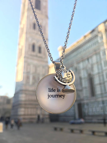 Spruchkette Life is a journey Florenz
