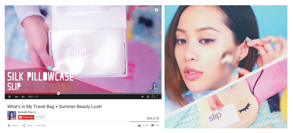 beauty blogger michelle phan sleeps with slip silk pillowcase