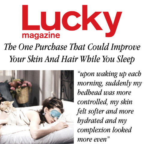 Lucky magazine sleeps with slip silk pillowcase