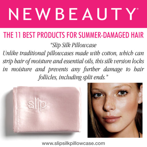 New Beauty magazine sleeps with slip silk pillowcase