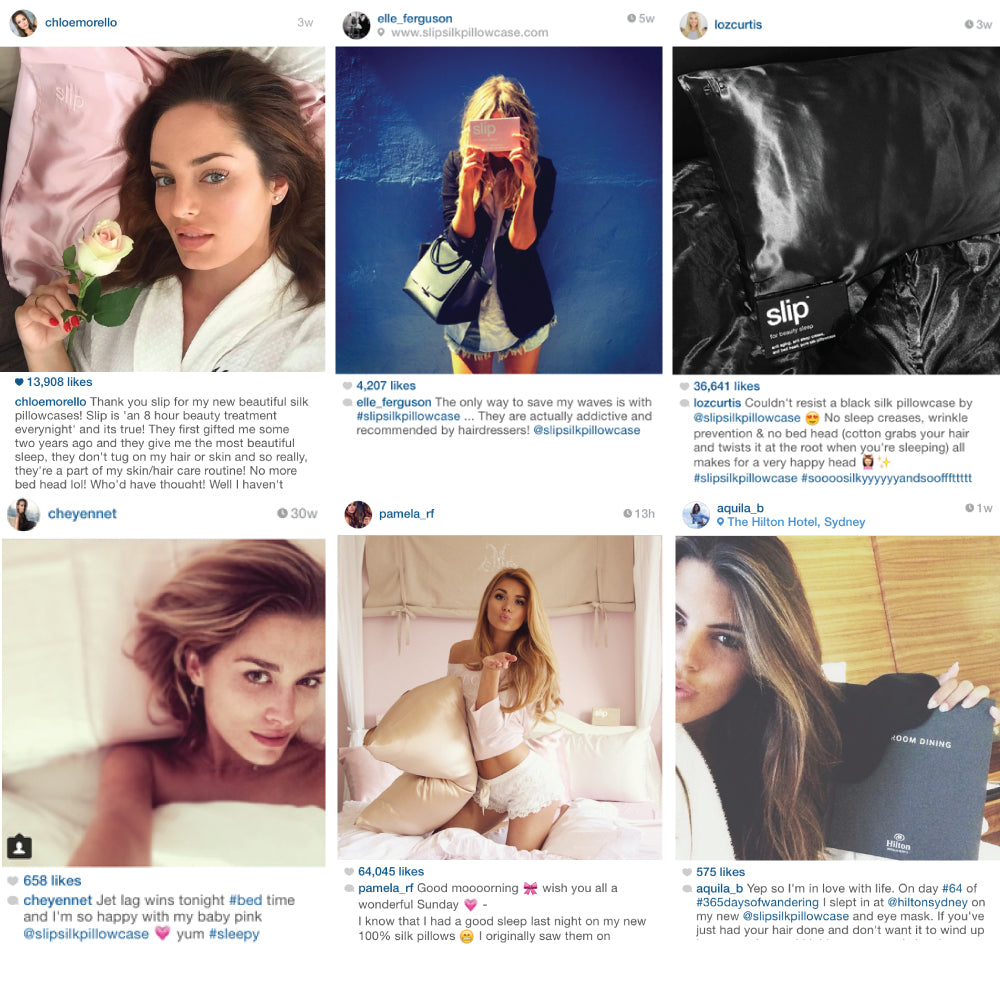 slip silk pillowcase reviews. such a good investment. anti aging. anti bed head. anti sleep crease. bloggers sleep with slip. chloemorello. elle ferguson. loz curtis. pamera rf. cheyenne t