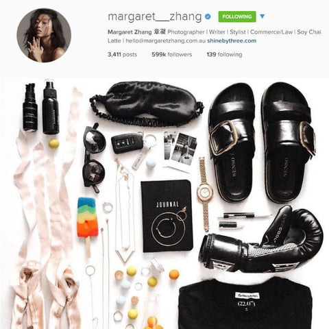 Fashion Blogger Margaret Zhang Sleeps With Slip Silk Pillowcase and Sleep Mask