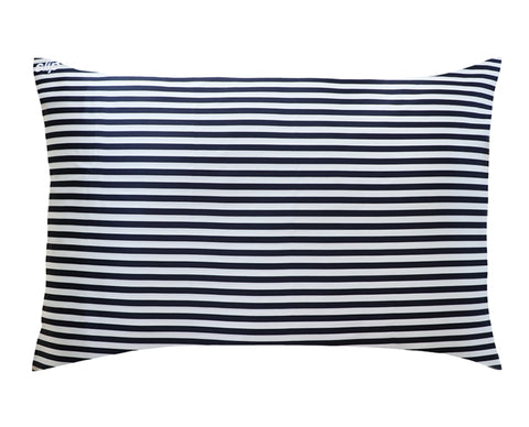 Pillowcase - Navy Stripe - Queen - Zippered