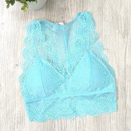 Demi Stretch Lace Bralette - Blue Mint