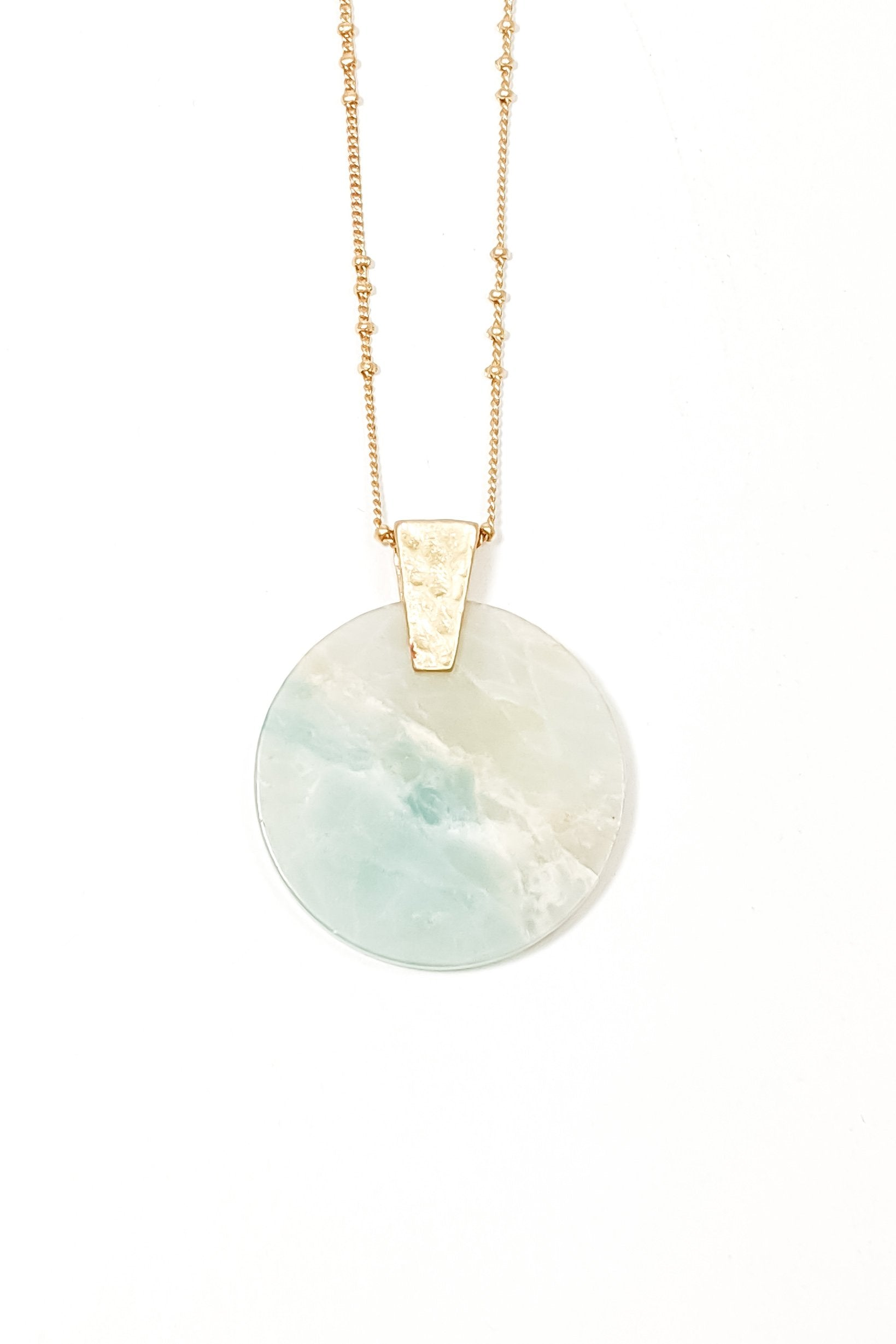 Amelia Teal Marbled Necklace