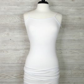 Tank Dress Thin Strap, One Size - White