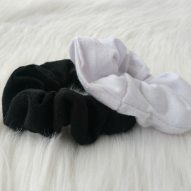 Black Cotton Scrunchie