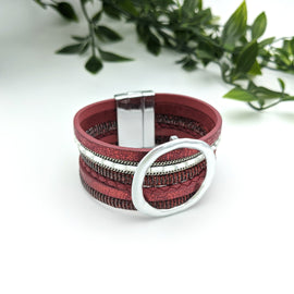 Payton Rich Red Magnetic Bracelet