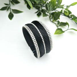 Olivia Black Hair Magnetic Bracelet