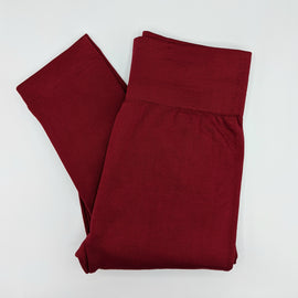SALE {Reg $13.00} Burgundy Fleece Lined Leggings